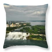 American Niagara Falls #2 Throw Pillow