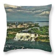 American Niagara Falls  Throw Pillow