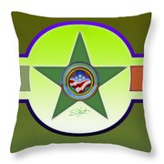 American Olive Throw Pillow
