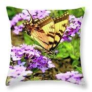 Yellow Eastern Tiger Swallowtail Series Throw Pillow