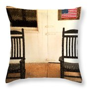 American Porch Throw Pillow