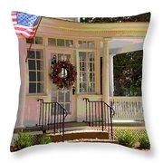 American Porch Throw Pillow