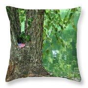 American Pride By The Pond Throw Pillow