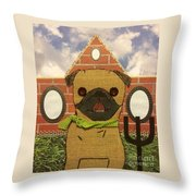 American Pug Gothic Throw Pillow