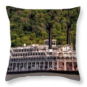 American Queen Riverboat Throw Pillow