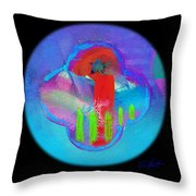 American Red And Blue Throw Pillow