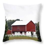 American Red Barn II Indiana Throw Pillow