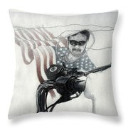 American Rider Throw Pillow