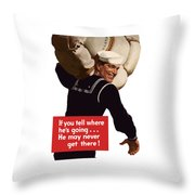 American Sailor -- Ww2 Propaganda Throw Pillow