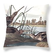 American Snipe Throw Pillow