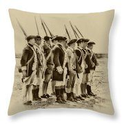 American Soldiers At Fort Mifflin Throw Pillow