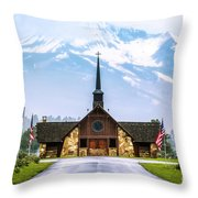 American Soldiers Chapel Throw Pillow