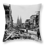 American Soldiers In Cologne, Germany Throw Pillow