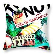 American Spirit Throw Pillow