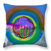 American Spring Throw Pillow