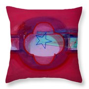 American Star Of The Sea Throw Pillow