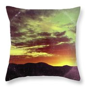 American Sunset As Vintage Album Art Throw Pillow