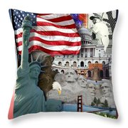 American Symbolicism Throw Pillow