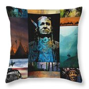 American Tapestry Throw Pillow