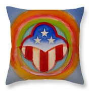 American Three Star Landscape Throw Pillow
