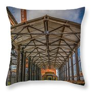 American Tobacco Campus Trail Throw Pillow