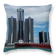 American Victory At Detroit Throw Pillow