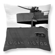 American Victory Ship Throw Pillow