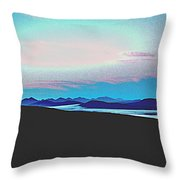 American Wilderness At Night Throw Pillow