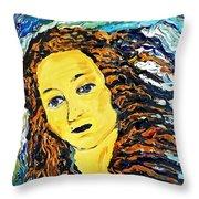 American Woman Throw Pillow