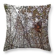 American Woodcock In October Foliage Throw Pillow
