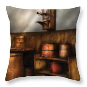 Americana -  In The Corner Of The General Store  Throw Pillow