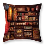 Americana - Store - The Local Grocers  Throw Pillow