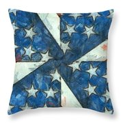 Americana Abstract Throw Pillow