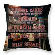 Americana - Food - Menu  Throw Pillow