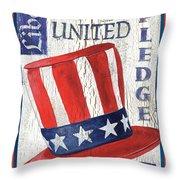 Americana Patriotic Throw Pillow