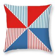 Americana Pinwheel Throw Pillow