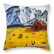 Americana - Plains Of Colorado Throw Pillow