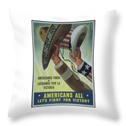 Americans All Throw Pillow