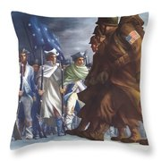 Americans Will Always Fight For Liberty Throw Pillow by War Is Hell Store