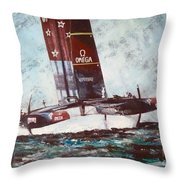 America's Cup 2013 Series Throw Pillow