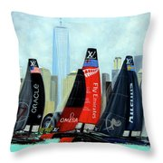 America's Cup New York City Throw Pillow