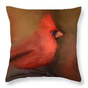 America's Favorite Red Bird Throw Pillow