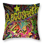America's Rock Band Throw Pillow