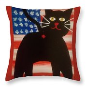 Americat Cat Butt Throw Pillow