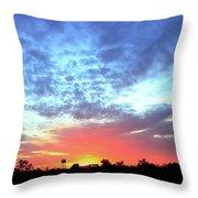 City On A Hill - Americus, Ga Sunset Throw Pillow
