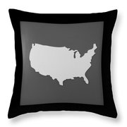 Amerika Throw Pillow