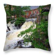 Amesbury Mill Yard Throw Pillow