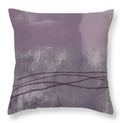 Amethyst 1- Abstract Art By Linda Woods Throw Pillow