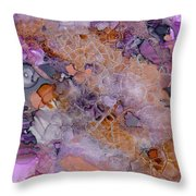 Amethyst And Copper Throw Pillow