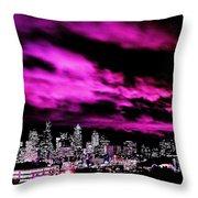 Amethyst City Throw Pillow